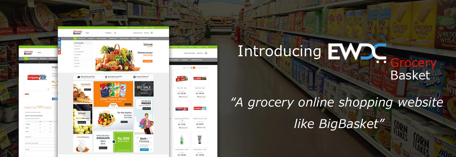 grocery online shopping website like BigBasket