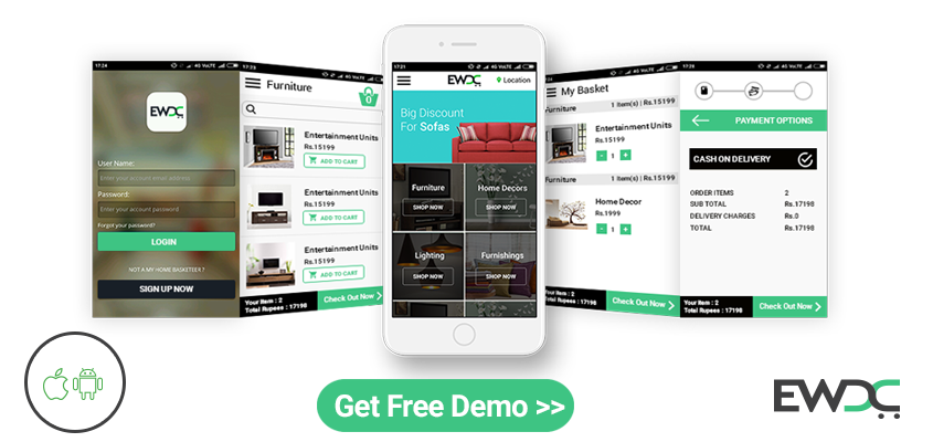 furniture ecommerce mobile app