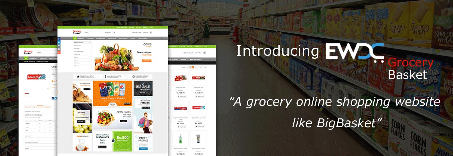 grocery online shopping website like BigBasket