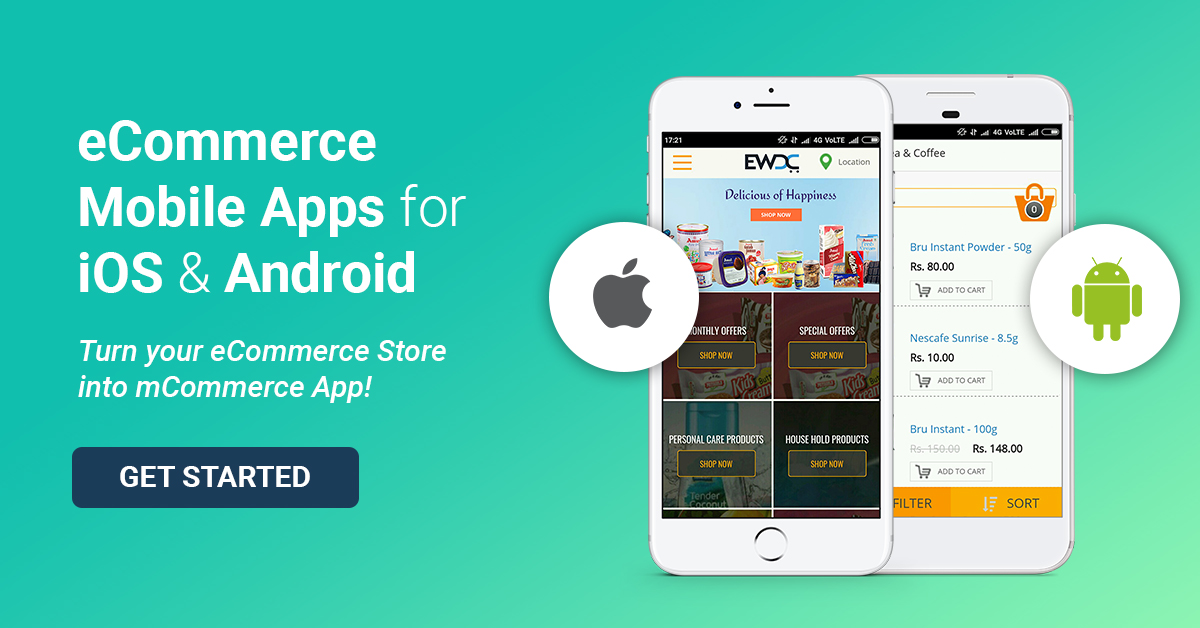 ecommerce mobile apps for android ios